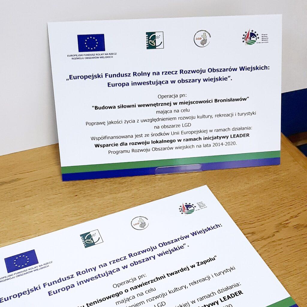 tablice informacyjne, unijne