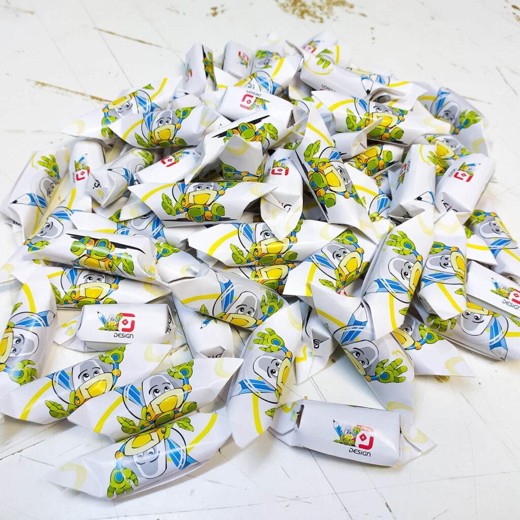 krówki reklamowe, słodycze